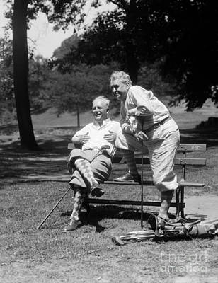 Mature Men Golfing, C.1930s Art Print