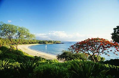 Mauna Kea Photograph - Mauna Kea Beach by Peter French - Printscapes