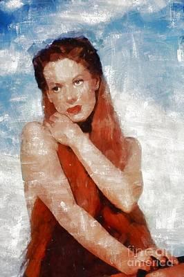 Maureen Painting - Maureen O'hara By Mary Bassett by Mary Bassett