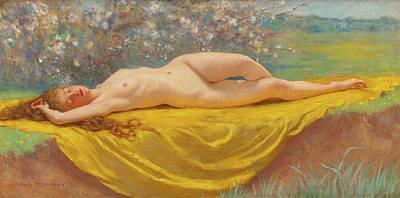 Kenyon Painting - May by Kenyon Cox