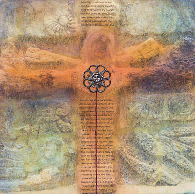 Wall Art - Mixed Media - Mayan Cross by Jane Dill