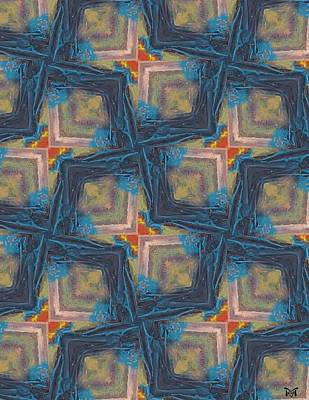 Digital Abstract Mixed Media - Maze Mayhem by Maria Watt