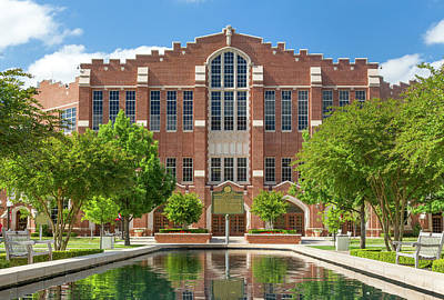 Oklahoma University Wall Art - Photograph -  Mccasland Field House by Ken Wolter