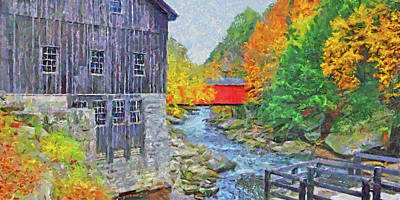 Digital Art - Mcconnells Mill State Park  by Digital Photographic Arts