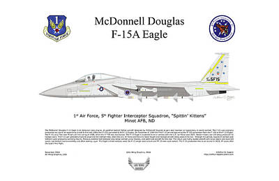 Digital Art - Mcdonnell Douglas F-15a Eagle by Arthur Eggers