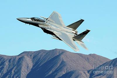 F-15c Eagle Photograph - Mcdonnell Douglas F-15c Eagle - 144th Fw Ca Ang by Jason O Watson