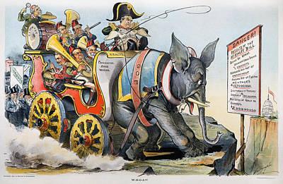 Mckinley Cartoon, 1896 Art Print by Granger