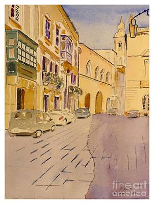 Painting - Mdina Malta by Godwin Cassar