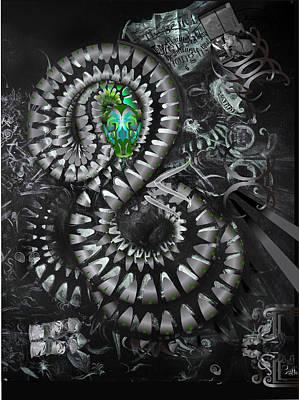 Mechanical Snake Art Print