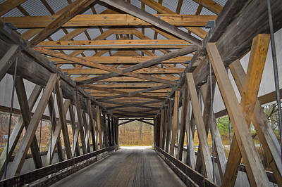 Photograph - Mechanicsville Rd Covered Bridge  by Jack R Perry
