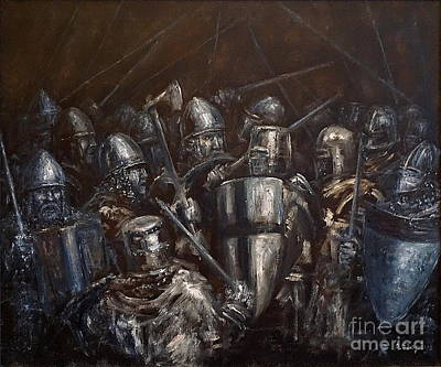 Painting - Medieval Battle by Arturas Slapsys