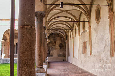Photograph - Medieval Hallway Of Italian Cloister by Patricia Hofmeester