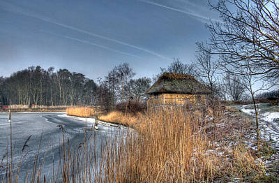 Ice Photograph - Medieval Village - House by Jan Boesen