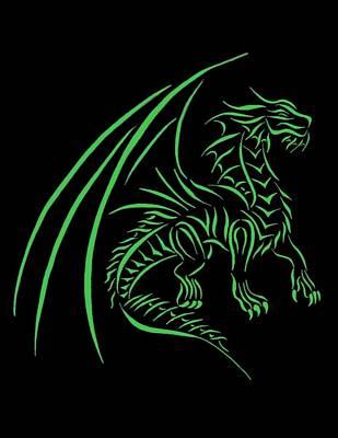 Medievil Dragon 2 Green Art Print by Tina Barnash