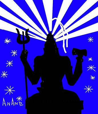 Digital Art - Meditating Shiva by Anand Swaroop Manchiraju