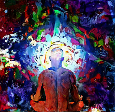 Digital Art - Meditation by Bruce Rolff