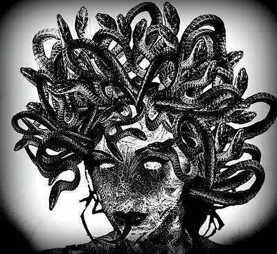 Gorgon Digital Art - Medusa by Frances Lewis