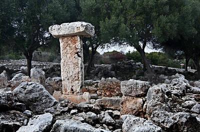 Photograph - Megalithic Taula In Binisafua Menorca Bronze Age by Pedro Cardona
