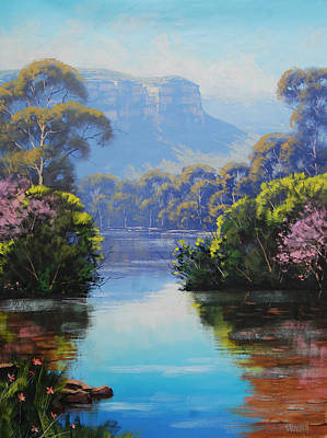 Impressionism Royalty-Free and Rights-Managed Images - Megalong Creek by Graham Gercken