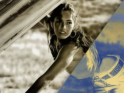 Megan Fox Mixed Media - Megan Fox Collection by Marvin Blaine
