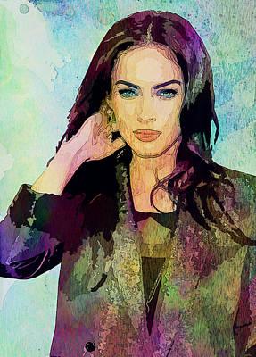 Megan Fox Art Print by Elena Kosvincheva