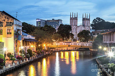 Photograph - Melaka At Night In Malaysia by Didier Marti