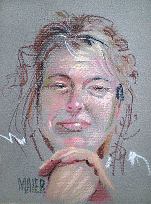 Pastel Portrait Drawing - Melissa by Donald Maier