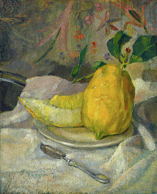 Painting - Melon And Lemon by French 19th Century