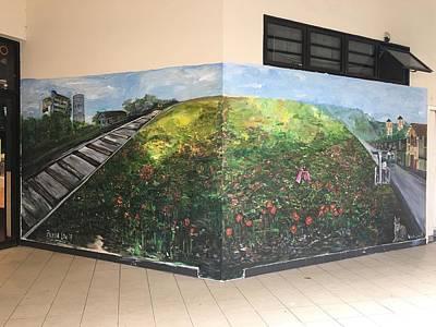 Mural Painting - Memories Of Commonwealth by Belinda Low
