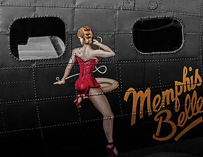 Painted Lady Photograph - Memphis Belle by Martin Newman