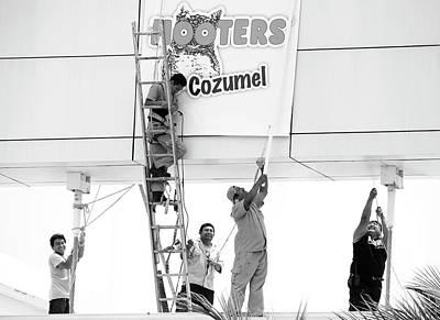 Photograph - Men At Work by Ramunas Bruzas