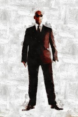 Cia Painting - Men In Black Series By Mb And Rt by Raphael Terra