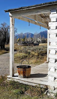 Photograph - Menors Ferry Homestead Grand Teton by Shirley Mitchell