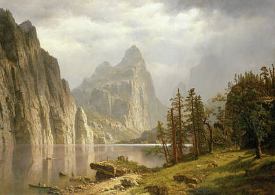 Yosemite Painting - Merced River, Yosemite Valley by Albert Bierstadt