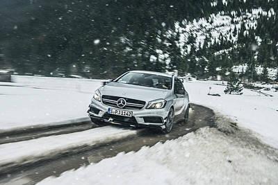 Mercedes Benz A45 Amg Snow Art Print
