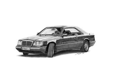 Mercedes-benz E-class Coupe Art Print by Gabor Vida