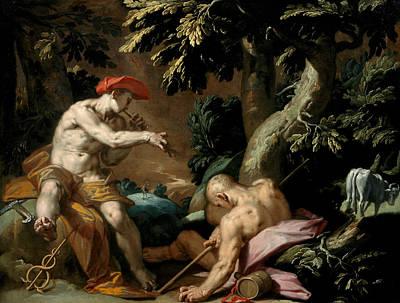 Abraham Painting - Mercury, Argus And Io by Abraham Bloemaert