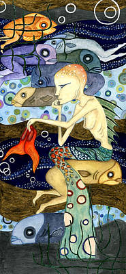 Mermaid Mixed Media - Mermaid by Ida Noelle Calumpang