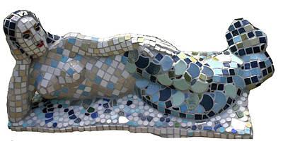 Sculpture - Mermaid by Katia Weyher