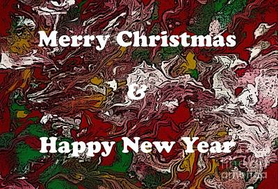 Digital Art - Merry Christmas And Happy New Year by Barbara Griffin