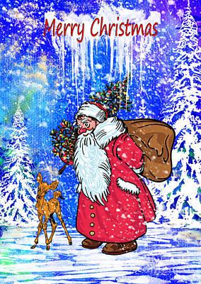 Painting - Merry Christmas. by Andrzej Szczerski