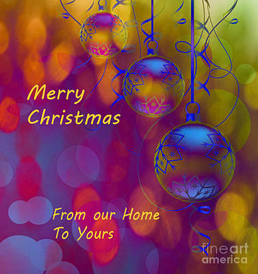Merry Christmas Art Print by Beverly Guilliams