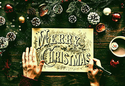 Photograph - Merry Christmas by Pixabay