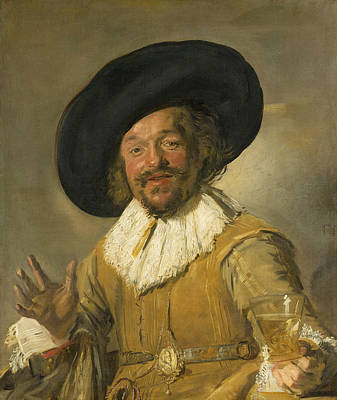 Drinking Painting - Merry Drinker by Frans Hals