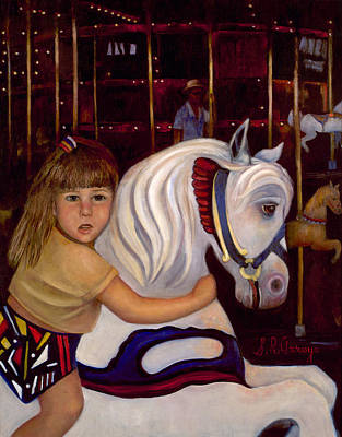 First Daughters Painting - Merry Go Round Girl by Sally Arroyo