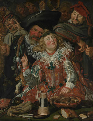 Painting - Merrymakers At Shrovetide by Frans Hals