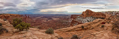 Photograph - Mesa Arch Sunrise Panorama - Canyonlands National Park - Moab Utah by Brian Harig