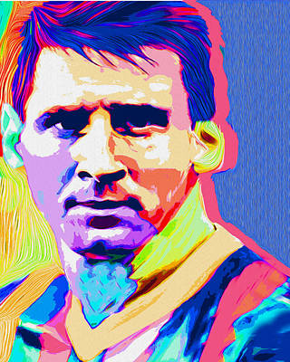 Messi Print by Nicolas Nixo Efthimiou