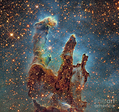 Messier 16, The Eagle Nebula In Serpens Art Print
