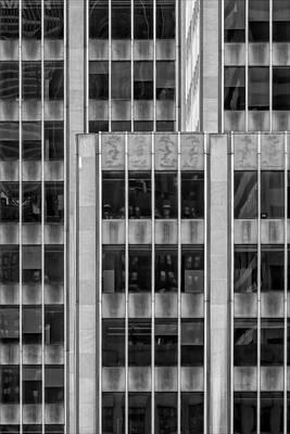 Katharine Hepburn - Metal and Glass Office Building NYC by Robert Ullmann